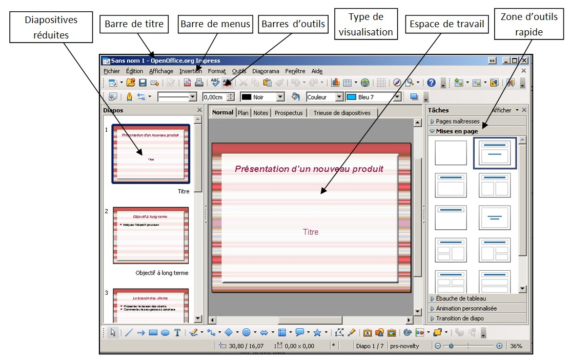 Cr er des diaporamas avec openoffice impression je me - Comment faire un organigramme sur open office writer ...