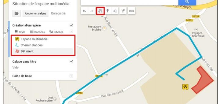 creer une carte personnalisee avec Google Map - apercu de la carte