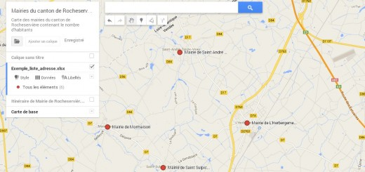 Creer Une Carte Google Map A Partir D Liste Adresse