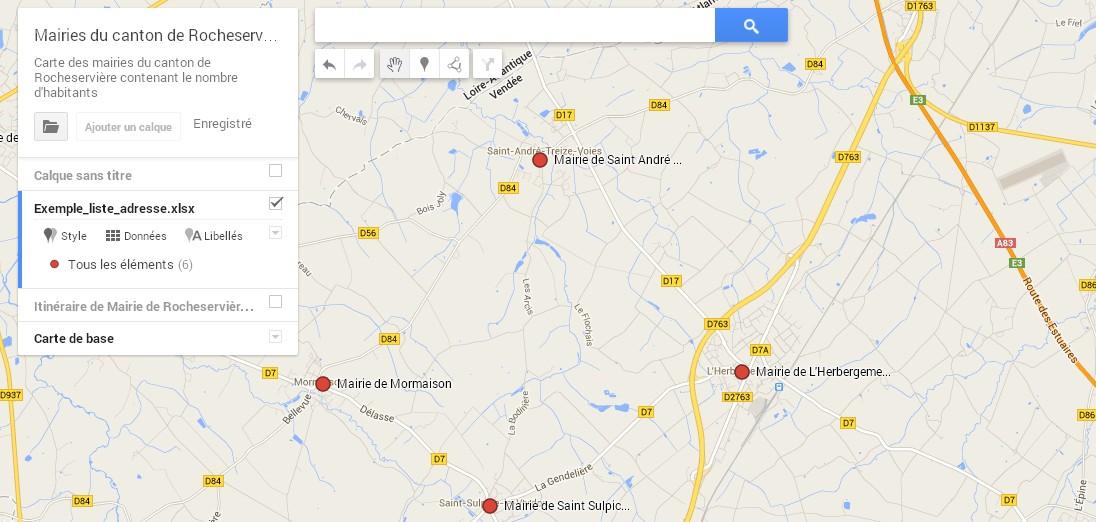 chercher une adresse sur google map