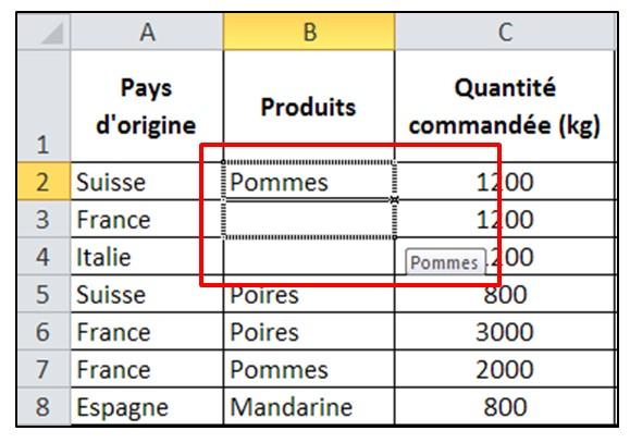 Excel 2010 - Les bases - poignee de recopie