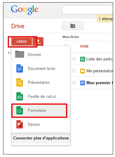 02 - Google formulaire agenda - creer un formulaire