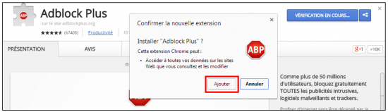 Installer l'application sur Chrome