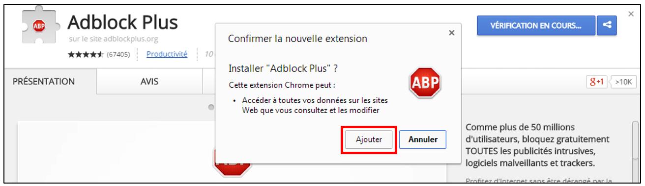 Bloquer les pub sur internet fenetre kommerling com for Bloquer fenetre publicitaire chrome