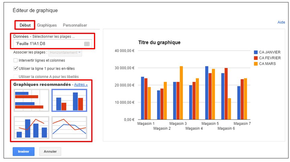 cr u00e9er des graphiques sur google drive