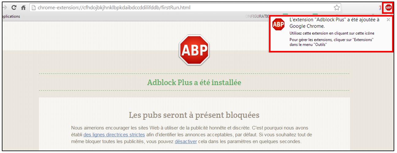Bloquer les publicit s sur les navigateurs avec adblock for Bloquer fenetre publicitaire chrome
