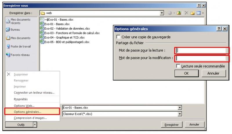 Excel 2010 - Les bases - proteger le classeur