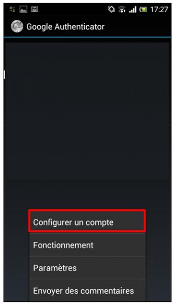 Configurer un compte
