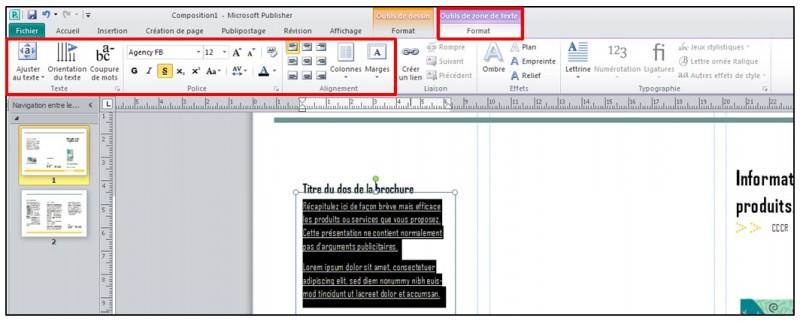 06 - Publisher 2010 - mettre en forme du texte