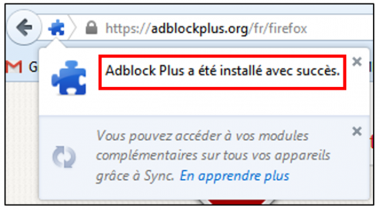 Installer l'application sur Firefox