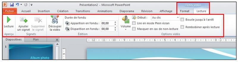 PowerPoint 2010 - objets graphiques et effets d animation - inserer un objet video