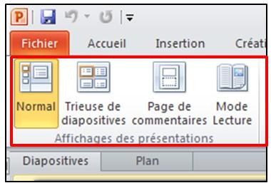 03 - PowerPoint 2010 - les bases d un logiciel de presentation - Modes d affichage
