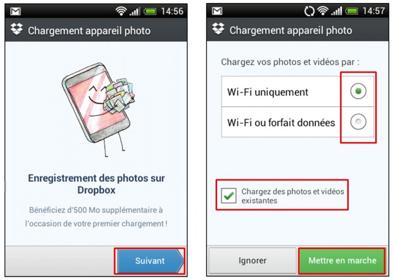 synchroniser ses photos smartphone tablette pc avec Dropbox - installer l application Dropbox