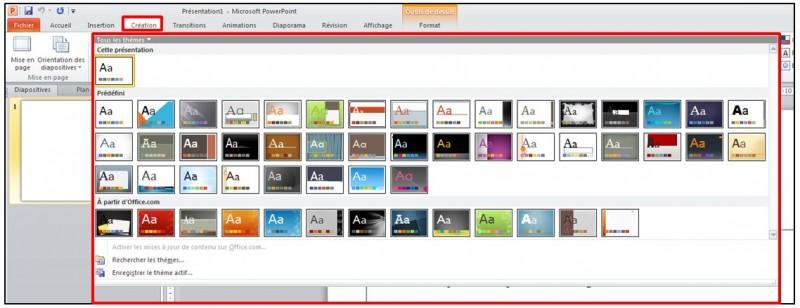 09 - PowerPoint 2010 - les bases d un logiciel de presentation - ajouter un theme