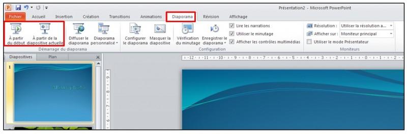 12 - PowerPoint 2010 - les bases d un logiciel de presentation - lecture du diaporama