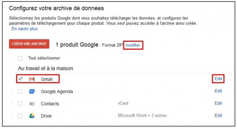 Sauvegarder Gmail sur son Ordinateur avec Google Takeout - Creer une archive