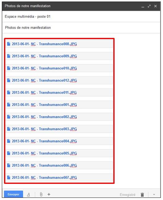 04 - Gmail envoyer des pieces jointes volumineuses avec Google Drive - Envoyer le message avec les pieces jointes