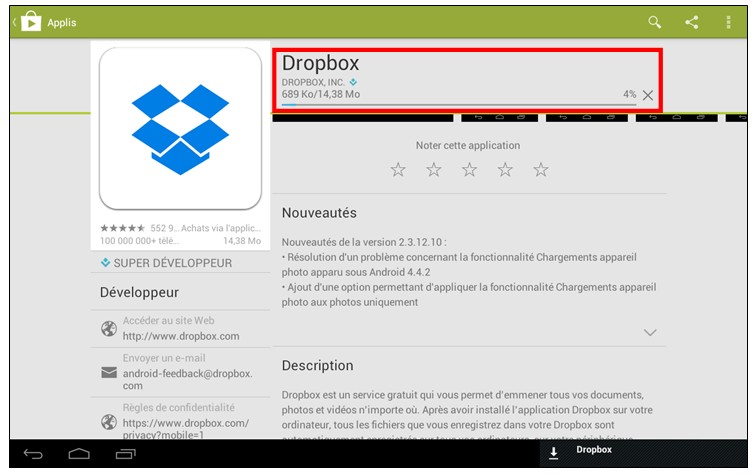 Decouverte et utilisation des tablettes tactiles Android - telecharger et installer une application sur Google Play Store