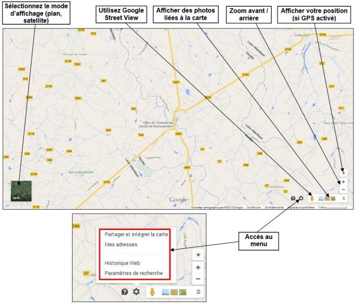 creer une carte personnalisee avec Google Map - naviguer sur Google Map