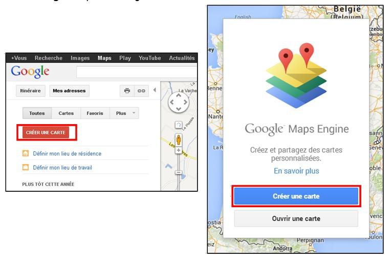 creer une carte personnalisee avec Google Map - creer une carte