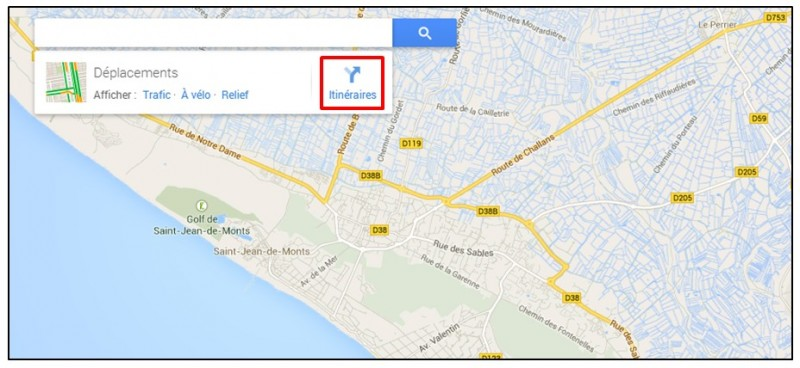 creer un trajet a velo avec Google Map - creer un itineraire