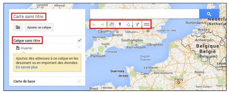 creer une carte personnalisee avec Google Map - outils de creation