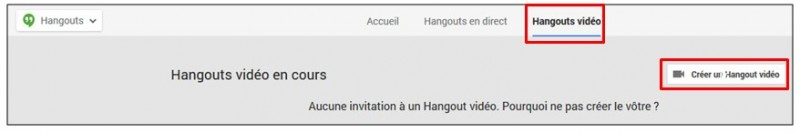 creer une video conference avec Google Hangouts - demarrer un hangouts video