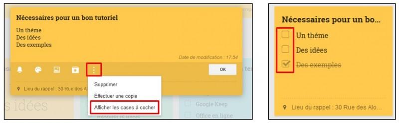 Prendre des notes avec Google Keep - creer une liste a puces