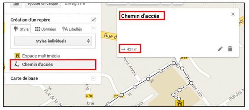 creer une carte personnalisee avec Google Map - modifier une ligne