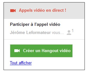 creer une video conference avec Google Hangouts - du cote invite
