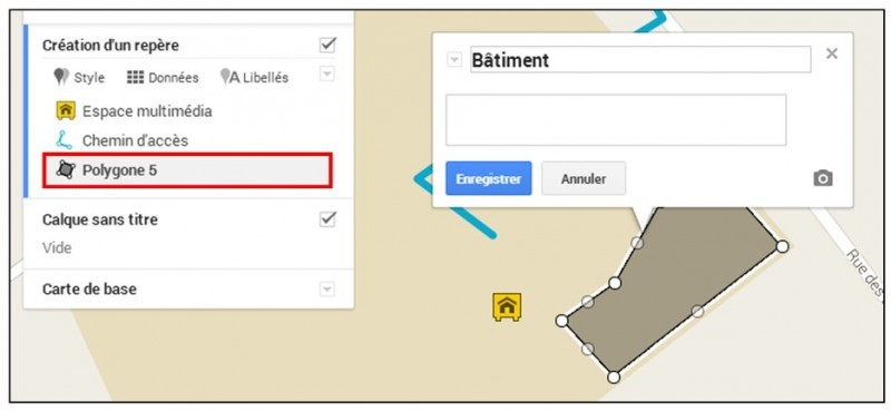 creer une carte personnalisee avec Google Map - ajouter une forme