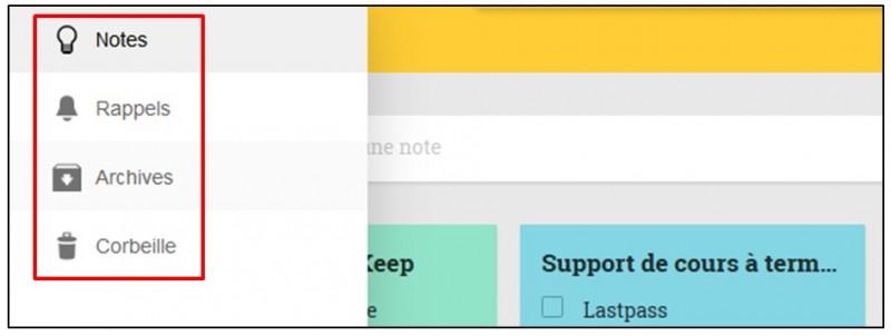 Prendre des notes avec Google Keep - raccourcis