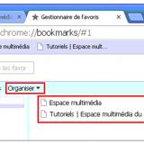 Utiliser le navigateur Google Chrome - gestionnaire de favoris