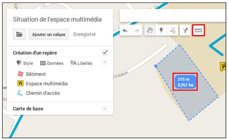 creer une carte personnalisee avec Google Map - mesurer des distances et des surfaces
