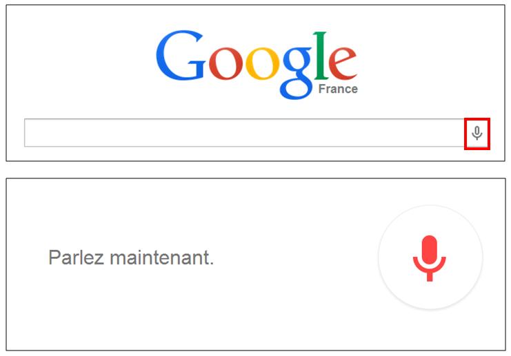 Utiliser le navigateur Google Chrome - recherche vocale