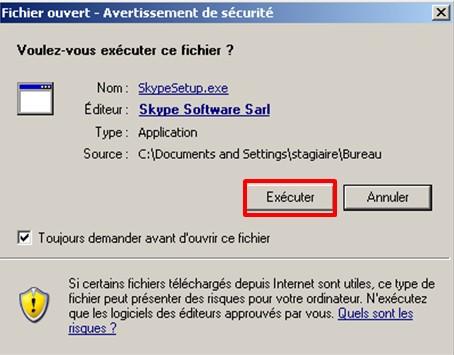 03 - Skype communiquez gratuitement avec vos contacts - execution de skype