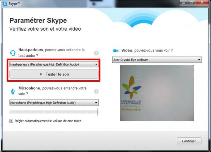 12 - Skype communiquez gratuitement avec vos contacts - parametrer skype verifier son et video