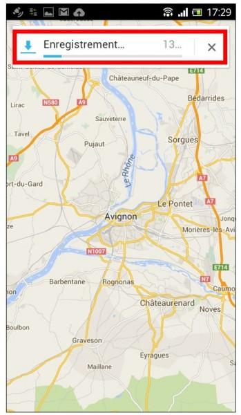 consulter une carte Google Maps hors connexion sur son mobile - enregistrer un lieu