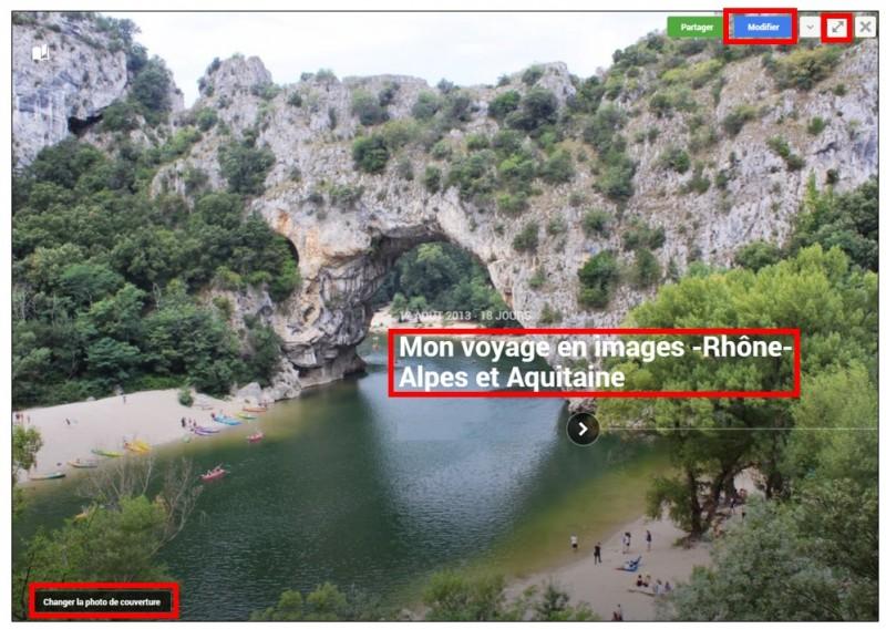 11 - creer des albums photos depuis son mobile avec Google Histoires - modifier une histoire
