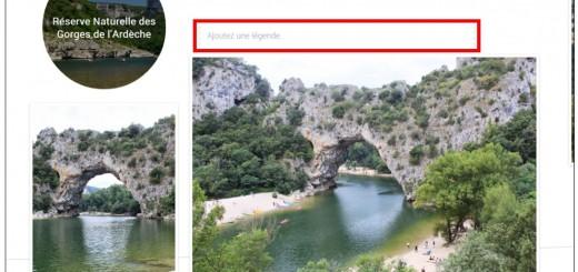 creer des albums photos depuis son mobile avec Google Histoires - ajouter une legende