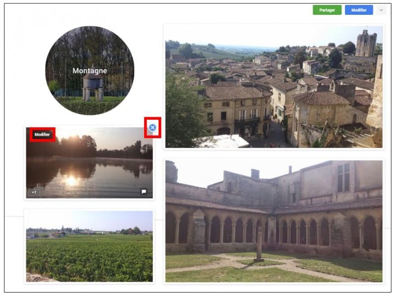 Créer des albums photos depuis son mobile avec Google Histoires - supprimer une photo