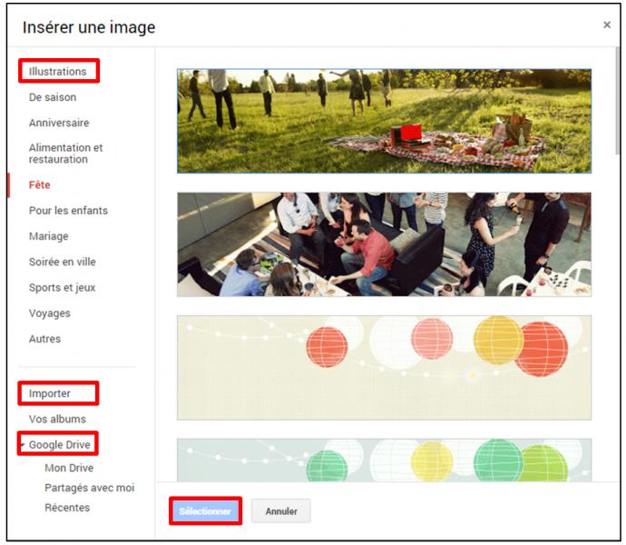 personnaliser le theme d un formulaire Google - modifier l image d en tete