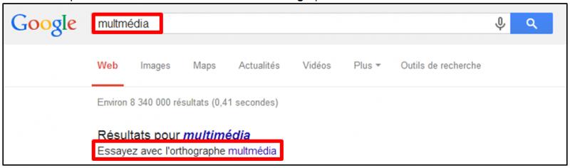 Tutoriel - gagner du temps dans ses recherches Google - verifier l orthographe
