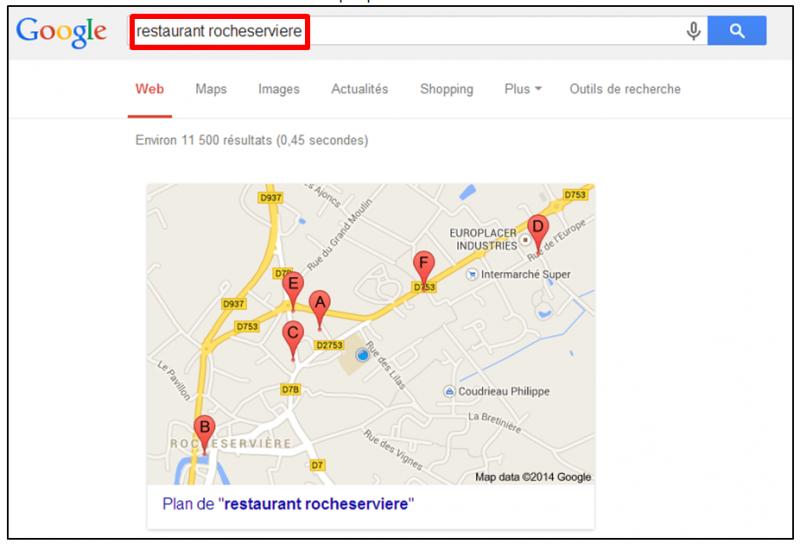 Tutoriel - gagner du temps dans ses recherches Google - Retrouver un commerce local