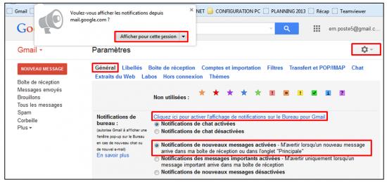 01 - Fonctions avancees de Gmail - trucs et astuces - Etre informe de l arrivee de nouveaux messages