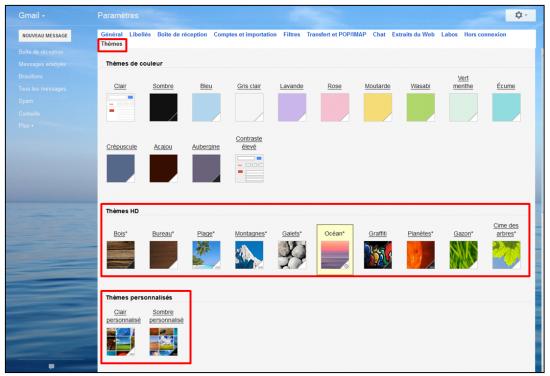 02 - Fonctions avancees de Gmail - trucs et astuces - Modifier le theme de l interface Gmail
