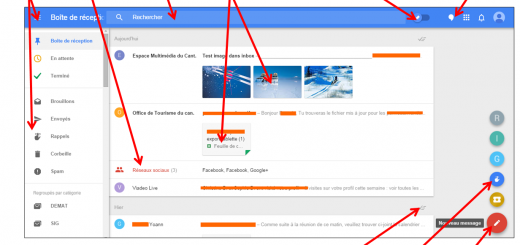 Faciliter la gestion des mails avec Inbox by Gmail - L interface Inbox