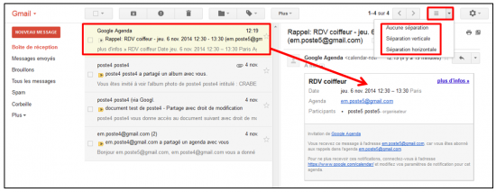 05 - Fonctions avancees de Gmail - trucs et astuces - Utiliser un volet d apercu de message