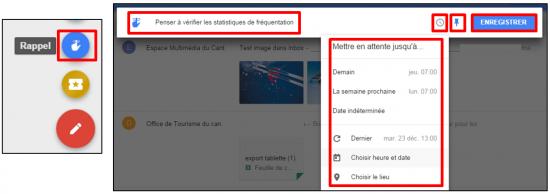 Faciliter la gestion des mails avec Inbox by Gmail - Creer des rappels personnalises