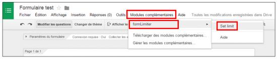 Utilier le module formLimiter